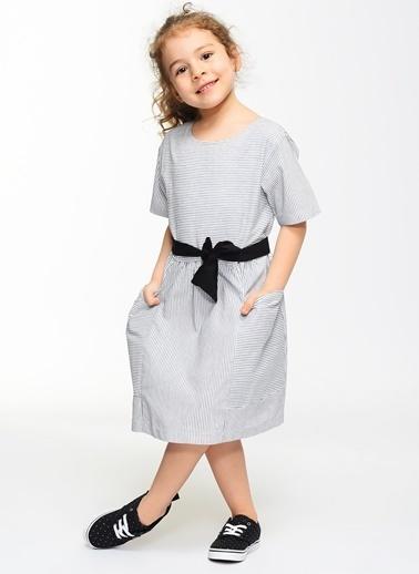 Çizgili Elbise-Morhipo Kids